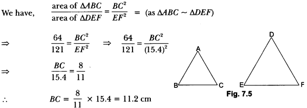 Triangles Class 10 Extra Questions Maths Chapter 6 with Solutions Answers 5