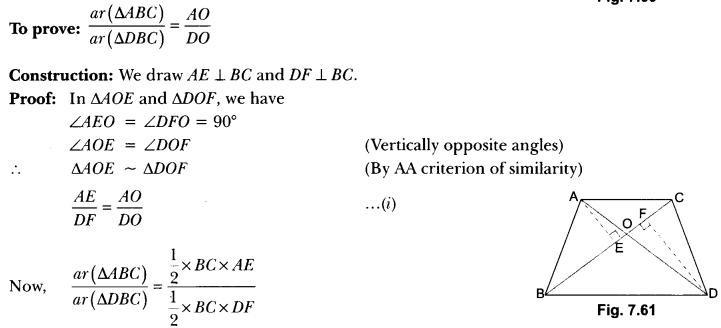 Triangles Class 10 Extra Questions Maths Chapter 6 with Solutions Answers 80