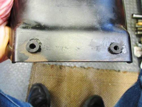 Rubber Hose Inserted In Rear Fender Holes To Minimize Vibration And Wear Of The Holes