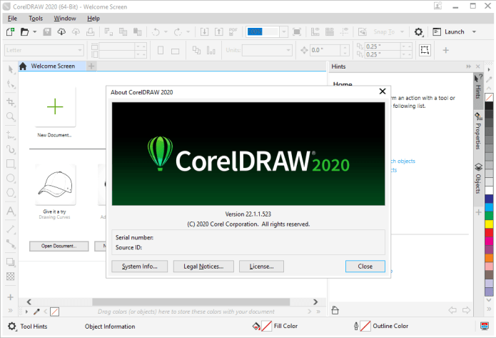 Working with CorelDRAW Graphics Suite 2020 v22.1.1.523 full