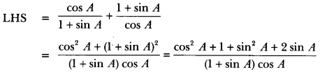 Introduction to Trigonometry Class 10 Extra Questions Maths Chapter 8 with Solutions Answers 40