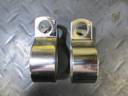 "Header Pipe Clamps Are Handed And Stamped ""L"", ""R"""