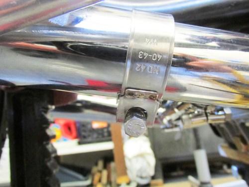 Muffler Clamp Bolt Detail-I Like The Bolt Under The Muffler