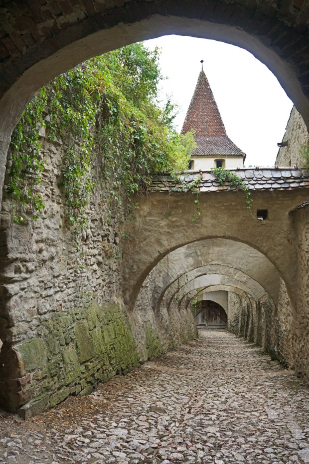 Inside the Fortified Church of Biertan
