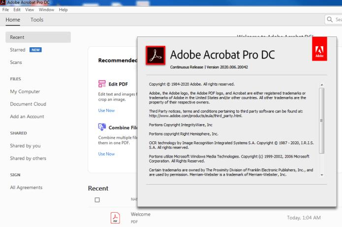 Working with Adobe Acrobat Pro DC v2020.009.20065 full