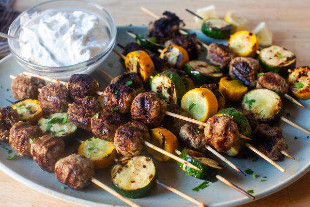 kefta and zucchini kebabs