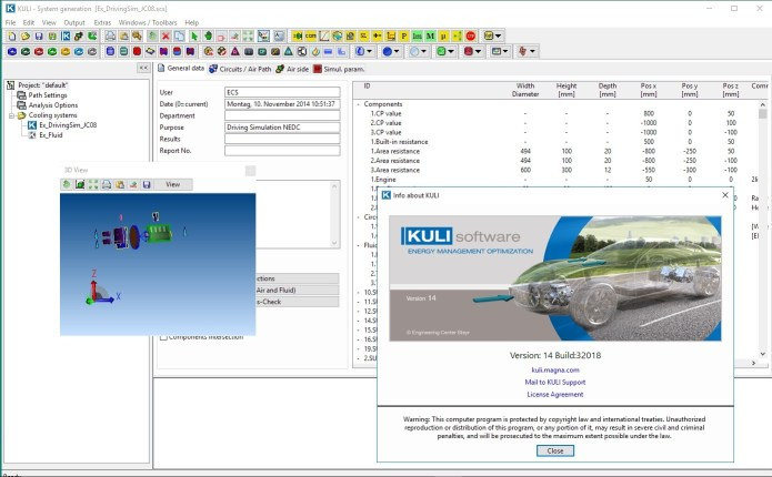 Working with MAGNA ECS KULI 14.0 full license