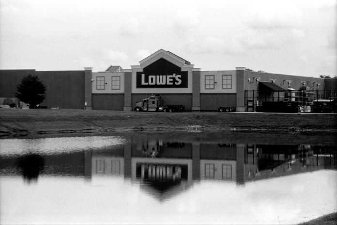 Lowe's, underexposed