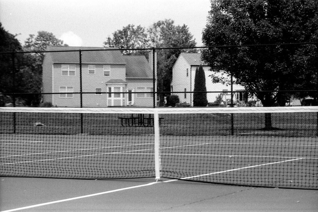 Tennis net, overexposed