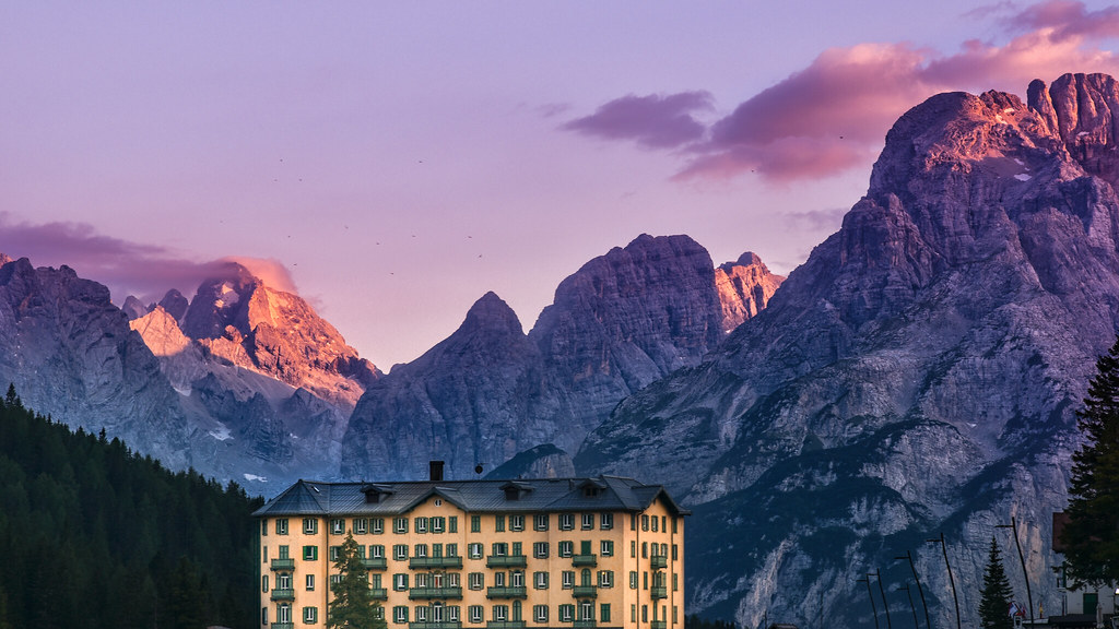 The Grand Misurina Hotel (by Wes Anderson)