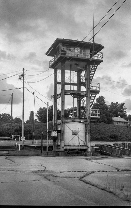 observation tower, Norfolk and Southern Railway, Asheville, NC, Ercona II, Arista.Edu 400, HC-110 developer, 8.23.20