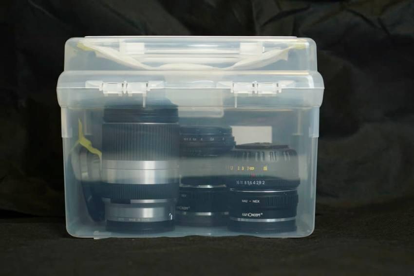 レンズ保管庫完成100均カメラ
