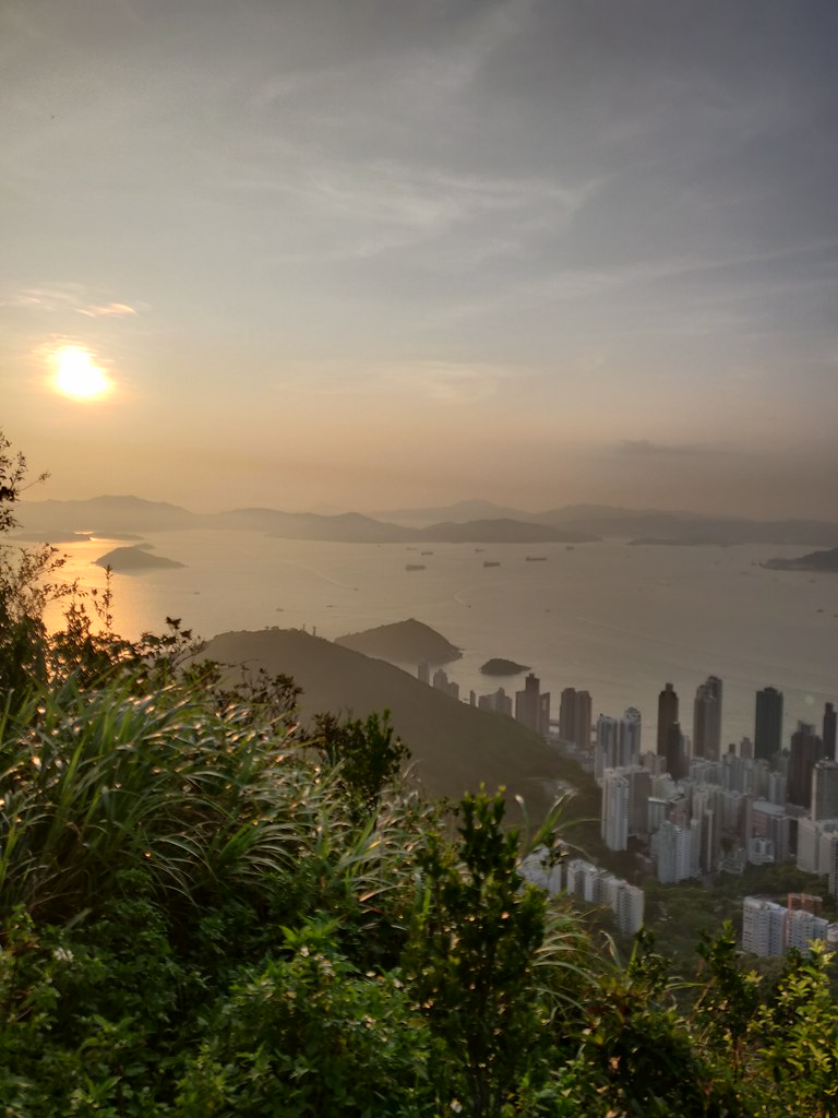 Sunset Hong Kong High West Viewing Point