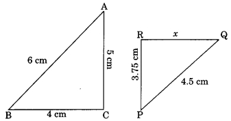 MCQ Questions for Class 10 Maths Chapter 6 Triangles with Answers 3