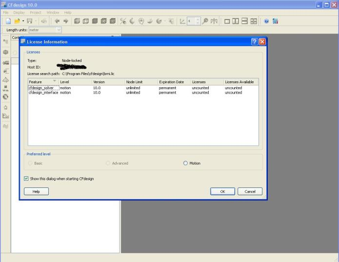 Working with CFDesign 10.0 full license