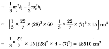 Surface Areas and Volumes Class 10 Extra Questions Maths Chapter 13 with Solutions Answers 82