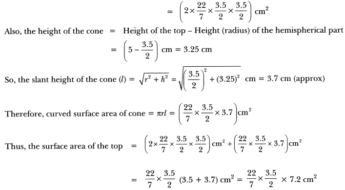Surface Areas and Volumes Class 10 Extra Questions Maths Chapter 13 with Solutions Answers 58
