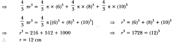 Surface Areas and Volumes Class 10 Extra Questions Maths Chapter 13 with Solutions Answers 31