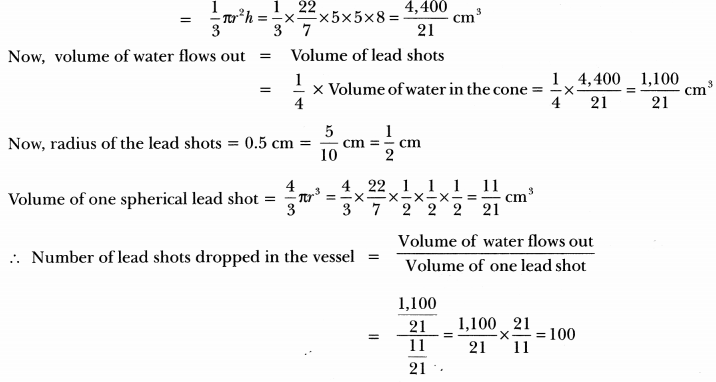 Surface Areas and Volumes Class 10 Extra Questions Maths Chapter 13 with Solutions Answers 98