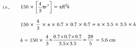 Surface Areas and Volumes Class 10 Extra Questions Maths Chapter 13 with Solutions Answers 87