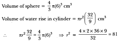 Surface Areas and Volumes Class 10 Extra Questions Maths Chapter 13 with Solutions Answers 50