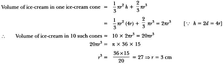 Surface Areas and Volumes Class 10 Extra Questions Maths Chapter 13 with Solutions Answers 47