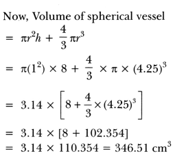 Surface Areas and Volumes Class 10 Extra Questions Maths Chapter 13 with Solutions Answers 29
