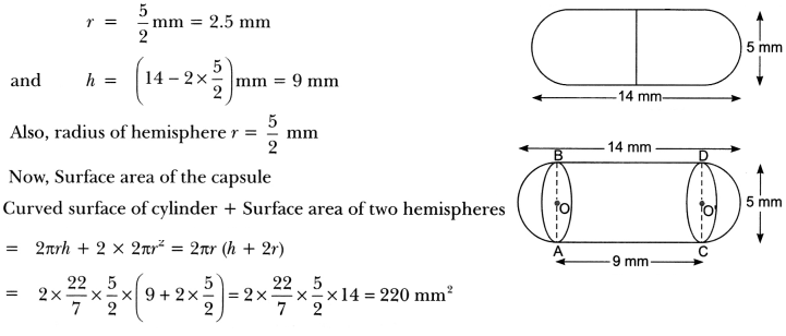 Surface Areas and Volumes Class 10 Extra Questions Maths Chapter 13 with Solutions Answers 24