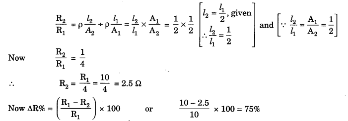 Electricity Class 10 Extra Questions with Answers Science Chapter 12, 13