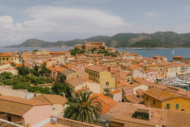 View of Portoferraio old town on Elba island