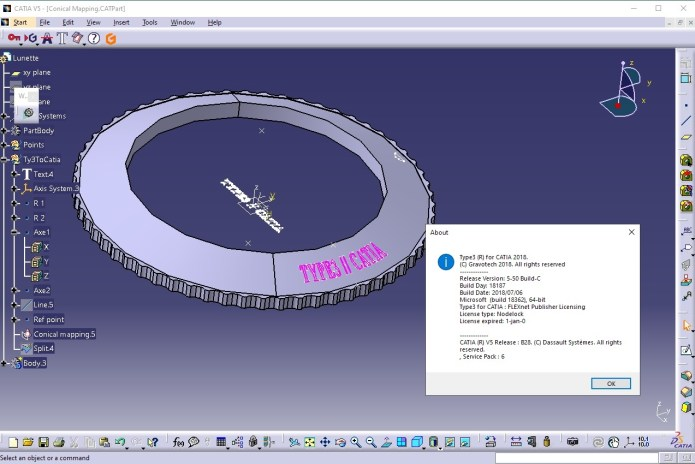 Working with Type3 CAA v5.5C 18187 for CATIA V5R28 full