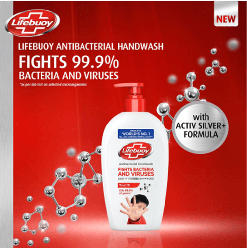Lifebuoy Antibacterial Handwash Total 10 450ml
