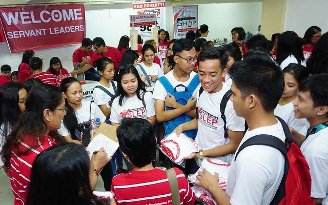 Caritas Manila Youth Servant Leaders register for Caritas Manila's Grand Commissioning.