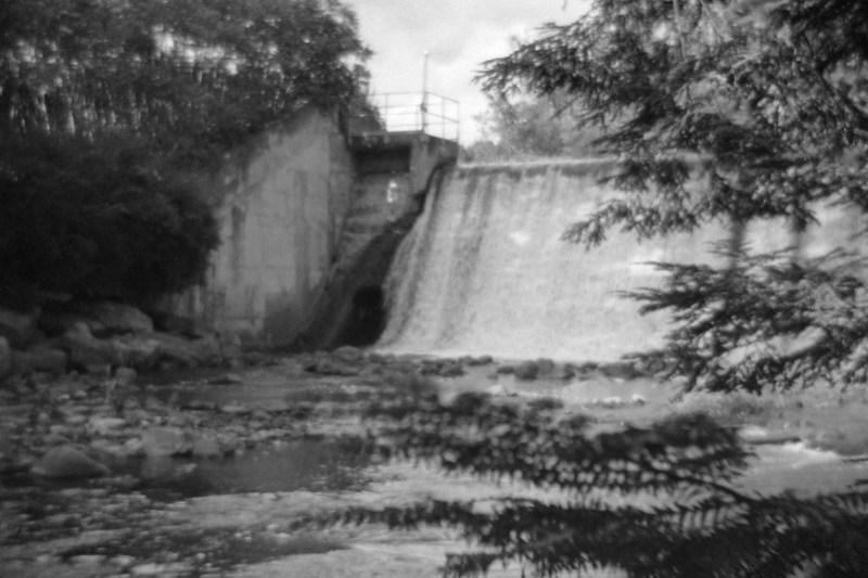 Geyser Creek, Concrete Wall and Waterfall