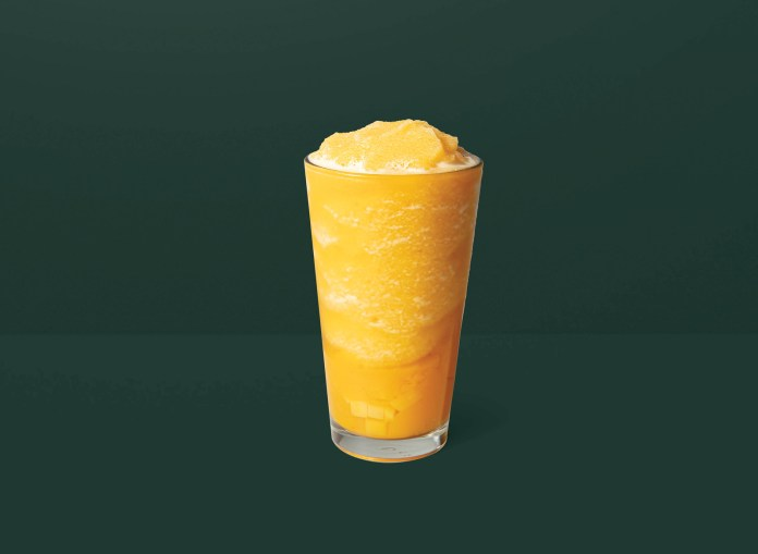港澳星巴克 Starbucks_Mango Passion Fruit Frappuccino® with Mango Jelly