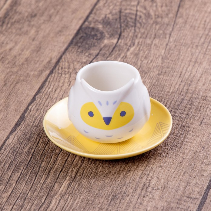 Starbucks_3oz Owl Mug with Saucer