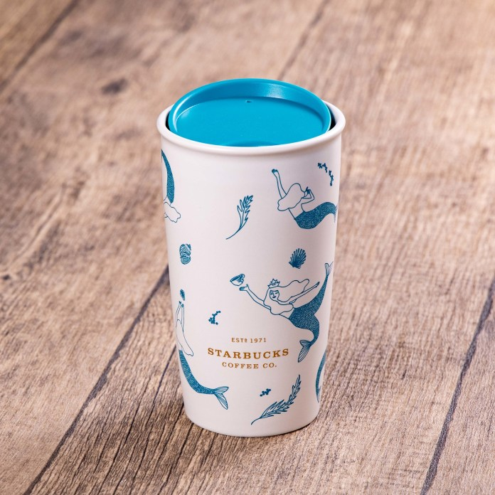 Starbucks_12oz Swimming Siren Double Wall Mug