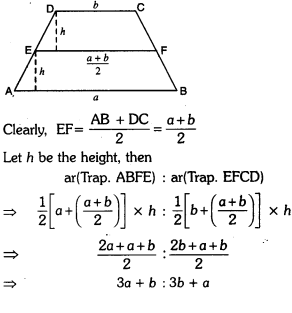 Areas of Parallelograms and Triangles Class 9 Extra Questions Maths Chapter 9 with Solutions Answers 3