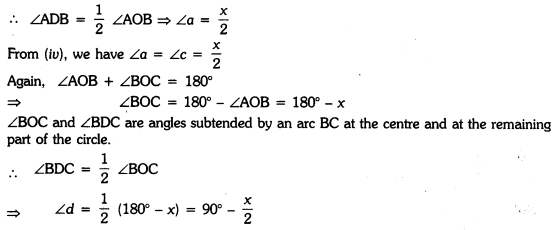 Circles Class 9 Extra Questions Maths Chapter 10 with Solutions Answers 18