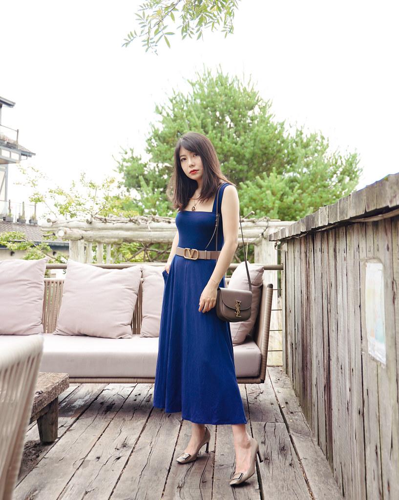 不能拍太矮也不能拍太高:Reformation Helina dress + Saint Laurent Kaia小尺寸實背