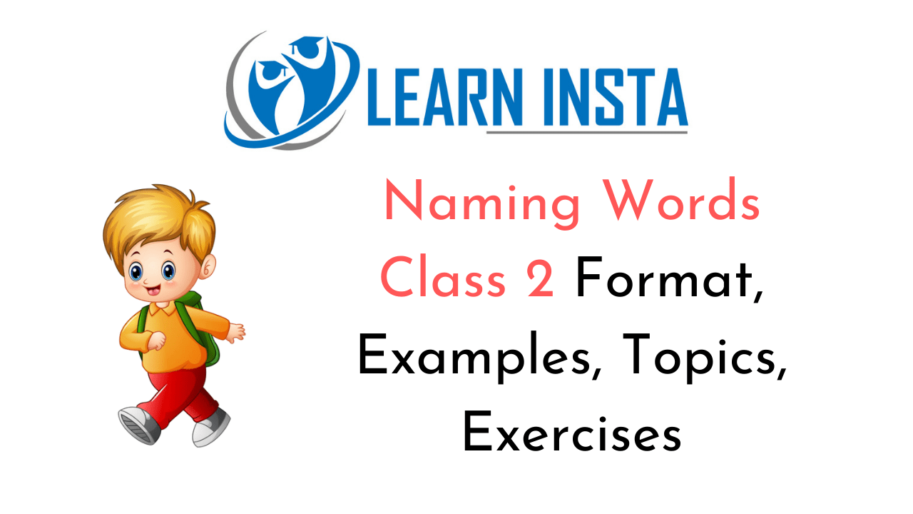 Naming Words Worksheet for Class 2 with Answers CBSE PDF