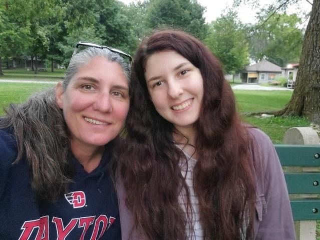 Kristine and Athena Scalzi at Camp Willson.