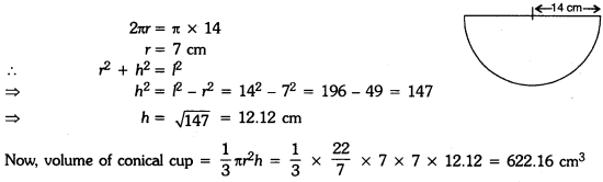 Surface Areas and Volumes Class 9 Extra Questions Maths Chapter 13 with Solutions Answers 12