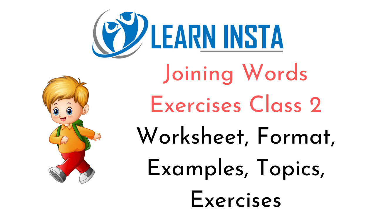 Joining Words Worksheet Exercises for Class 2 Examples with Answers CBSE