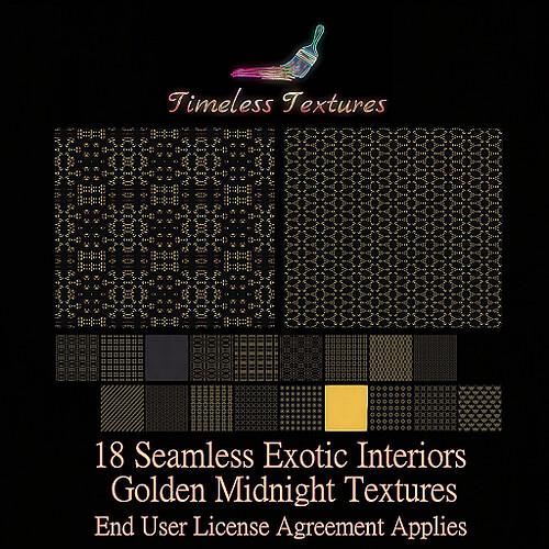 TT 18 Seamless Exotic Interiors Golden Midnight Timeless Textures