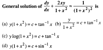 Maths MCQs for Class 12 with Answers Chapter 9 Differential Equations Q75