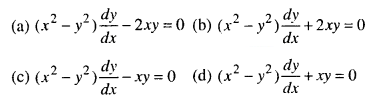 Maths MCQs for Class 12 with Answers Chapter 9 Differential Equations Q14