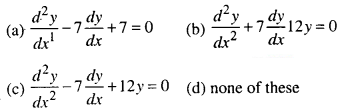 Maths MCQs for Class 12 with Answers Chapter 9 Differential Equations Q9