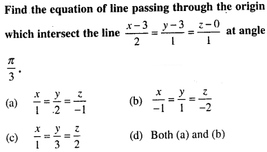 Maths MCQs for Class 12 with Answers Chapter 11 Three Dimensional Geometry Q33