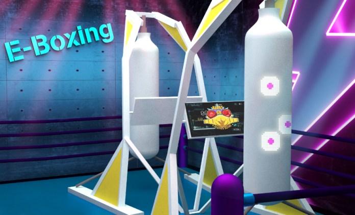 採用全新開發內藏過千枚感應器智能沙袋的拳擊運動「E-Boxing」,大考大家速度、敏捷度、爆炸力及反應度